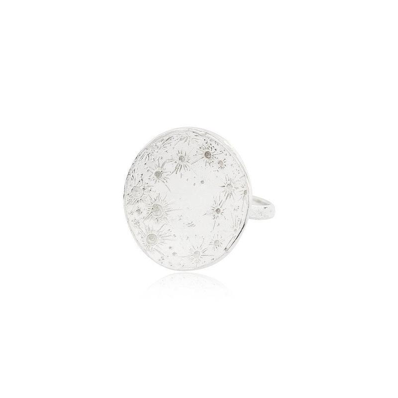 Large moon disc ring silver (ラージムーン ディスクリング シルバー)