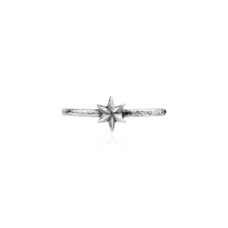 Mini star ringOxidised Silver(ミニスターリング シルバー)