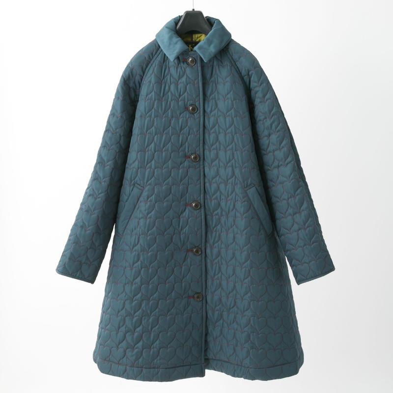 Quilted coat (dark green)