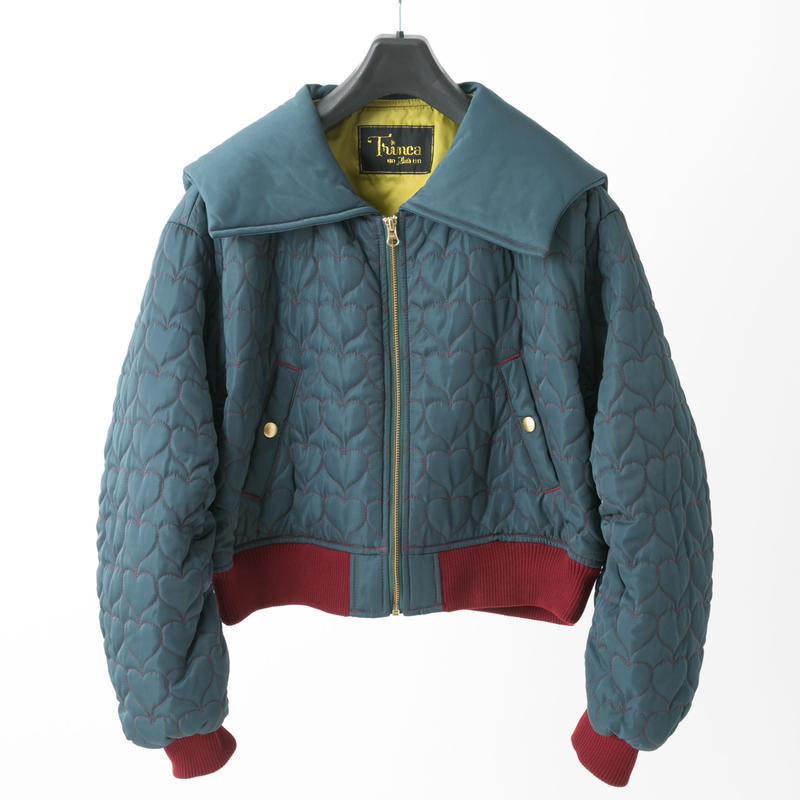 Quilted jacket (dark green)