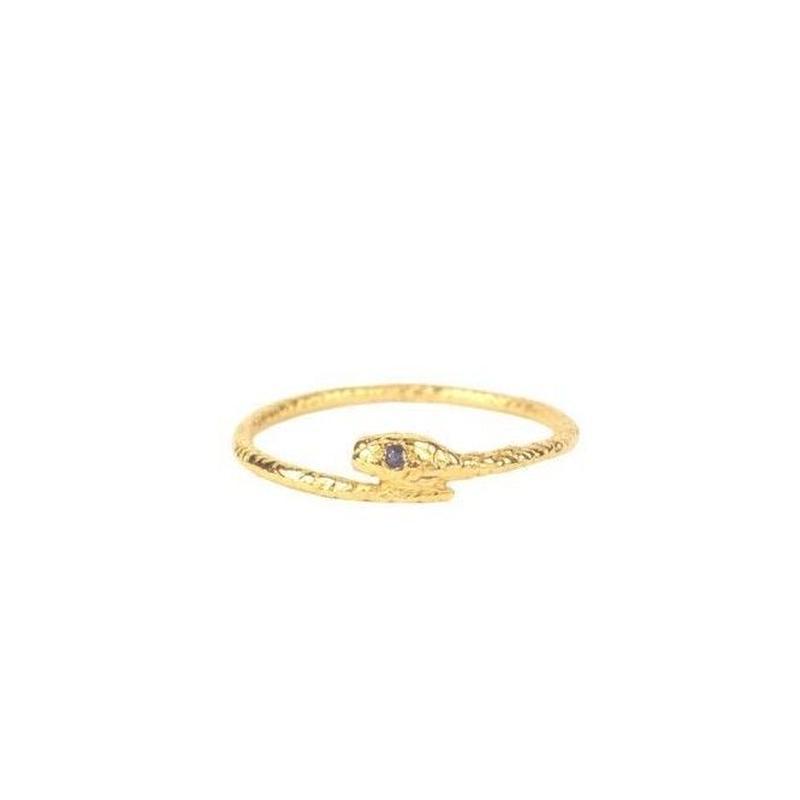 SNAKE RING22K GOLD VERMEIL/SAPPHIRE(ゴールドスネークリング サファイア)