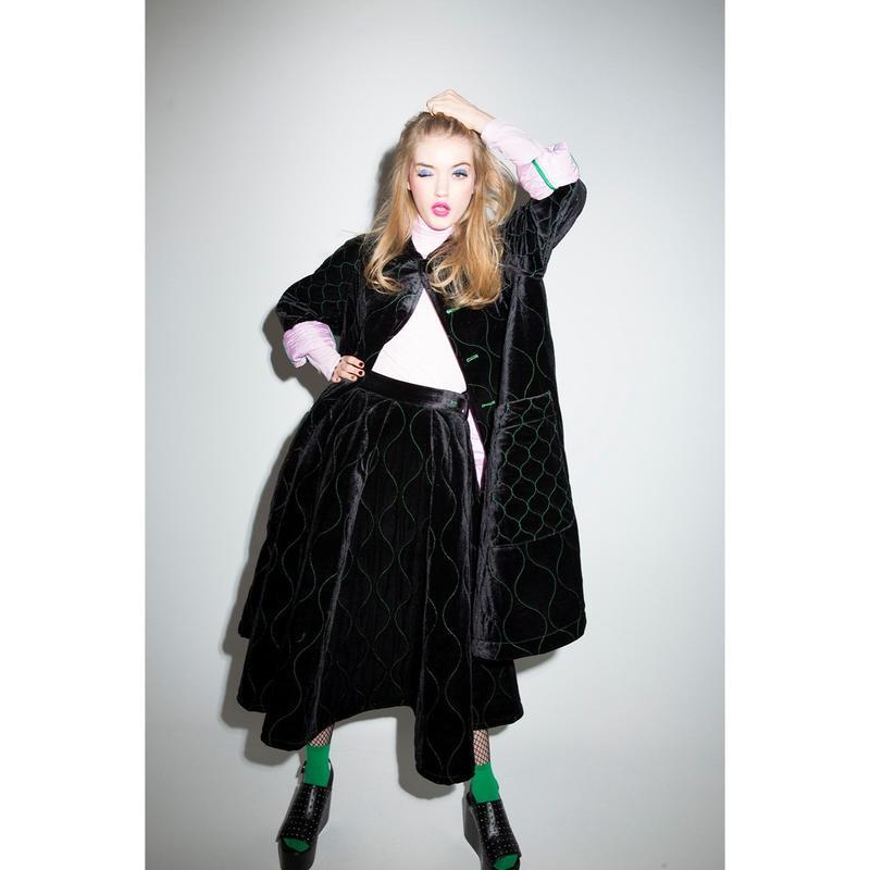 Velveteen Quilted Skirt