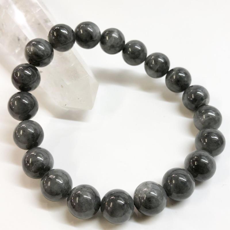 【希少】黒翡翠(ブラックジェード) 10mm ブレス 【富と繁栄の象徴】