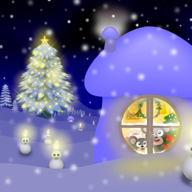 A4イラスト133 Deep Blue Christmas