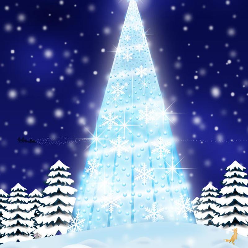 A4イラスト139 Blue Light Christmas