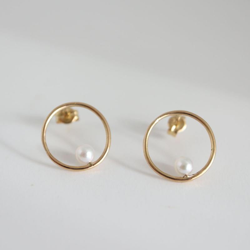 K18 GOLD×PERL EARRINGS