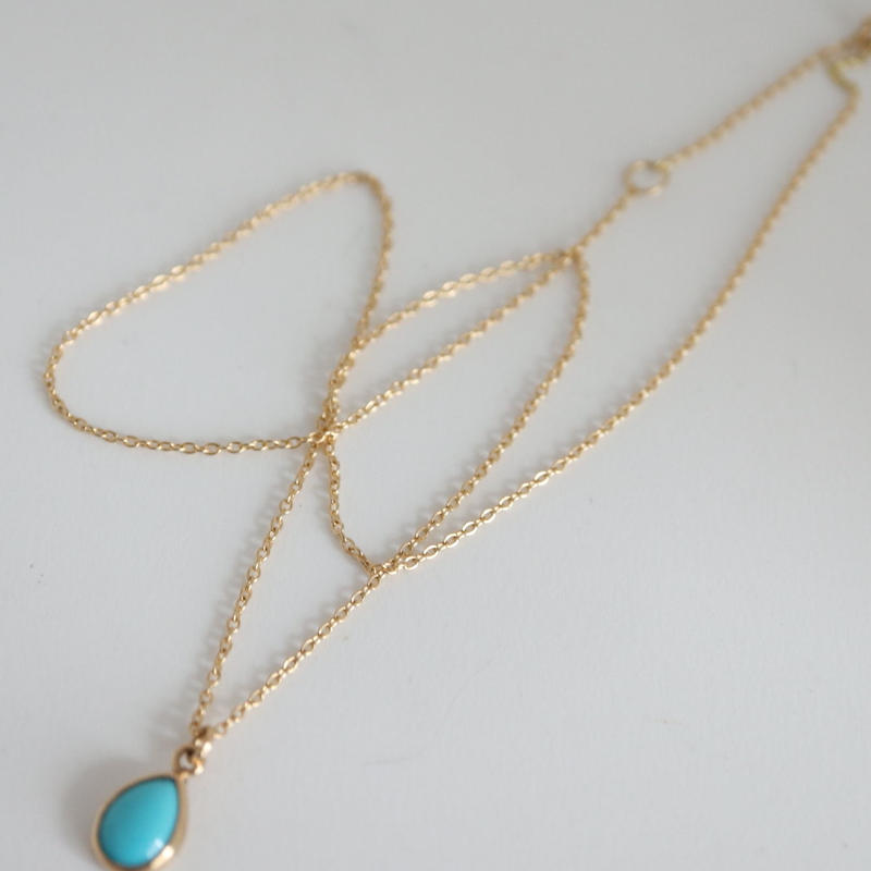 K18 & TORQUOISE NECKLACE