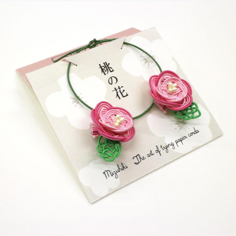 水引マグネット・桃の花