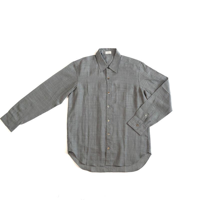 [メンズシャツ]ラミー(麻)/グレー
