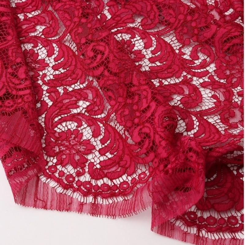 French Leavers Lace 70964.1/85  RED