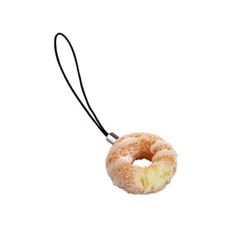 食べかけドーナツ(クリーム)ストラップ