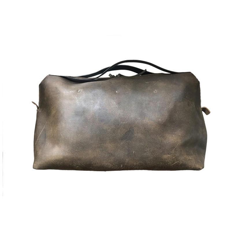 Boston bag/L/Olive  ビンテージ加工済み