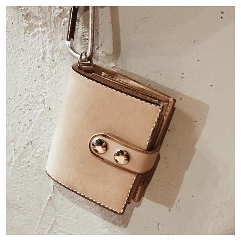 leather half wallet