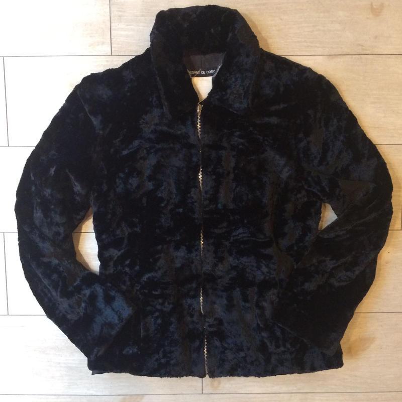 もこもこプードルの様なブラックジャケット