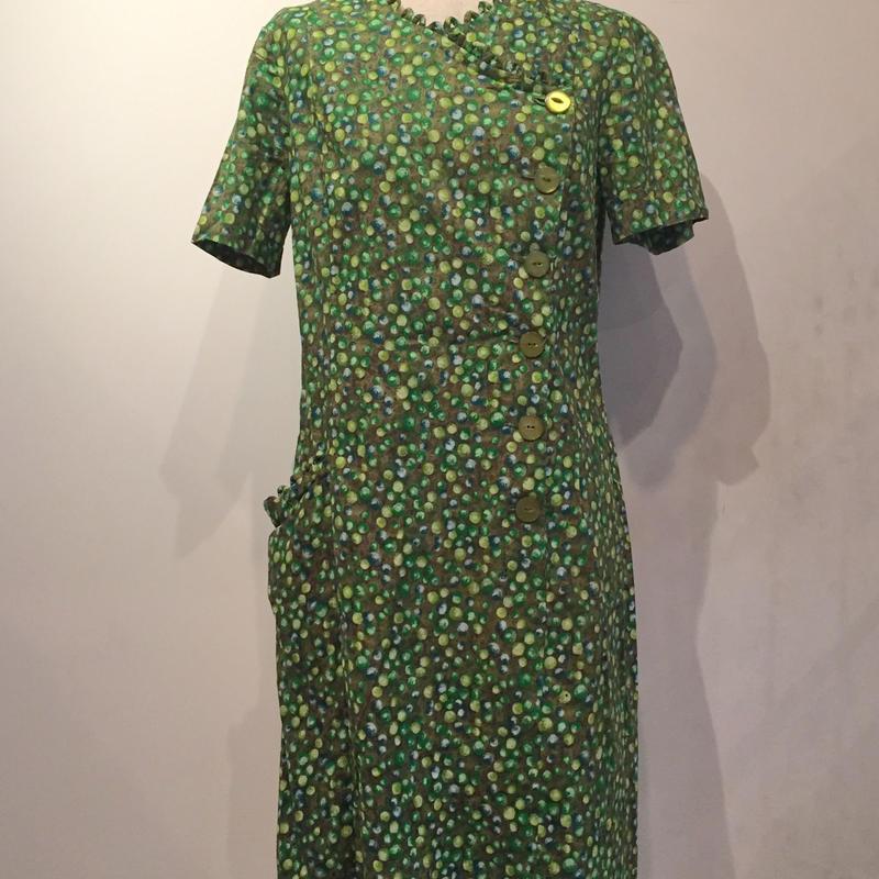 1950'sグリーンワンピース