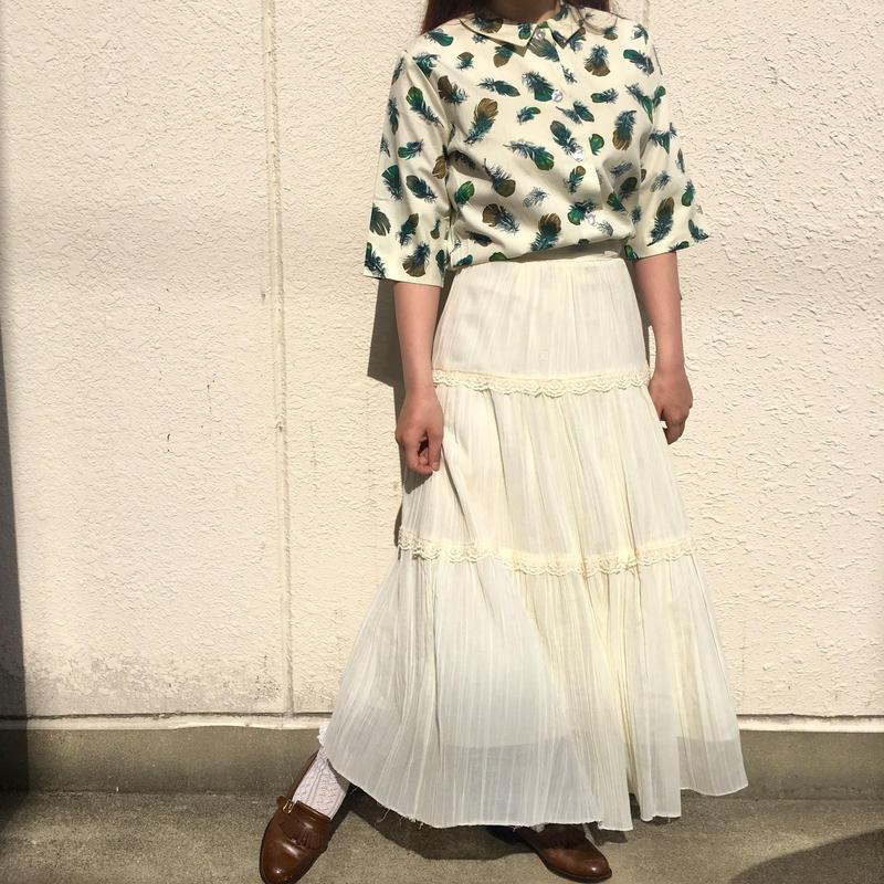 1970's コットンガーゼティアードスカート