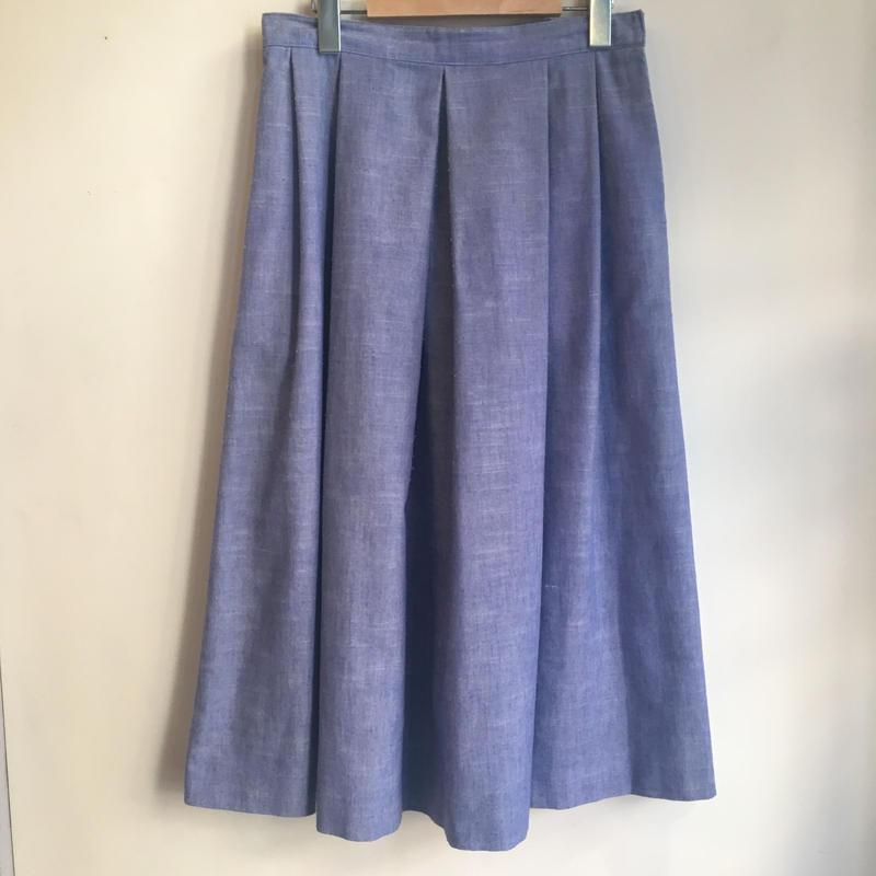 シャンブレー プリーツスカート