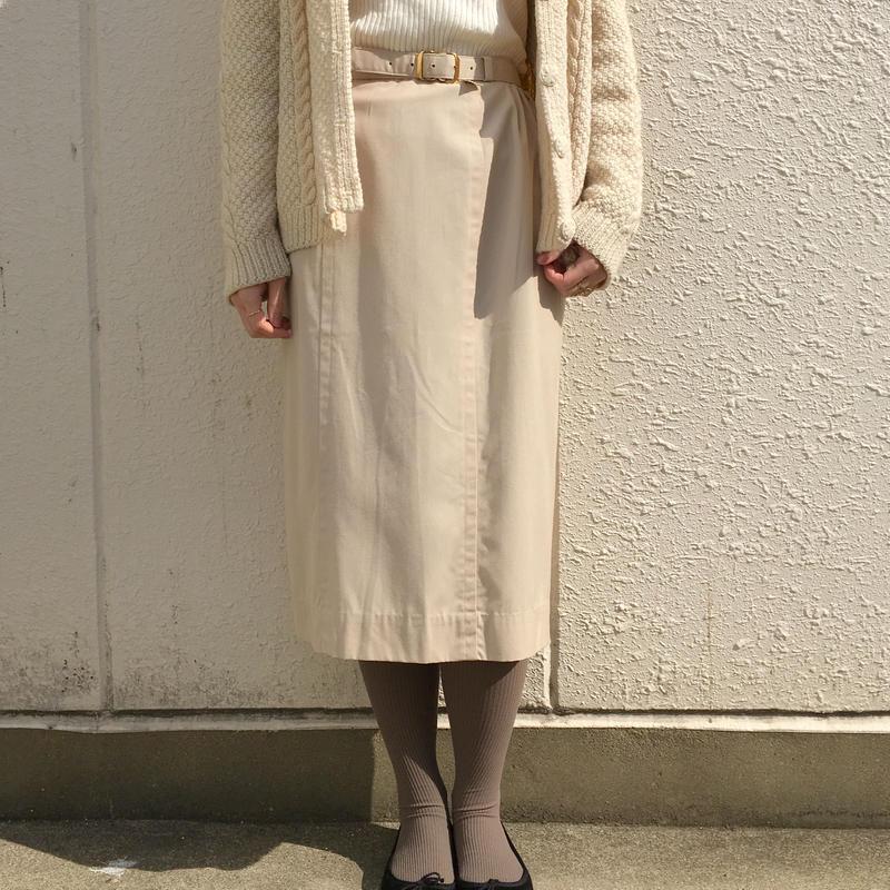 1960's deadstock ベージュタイトスカート