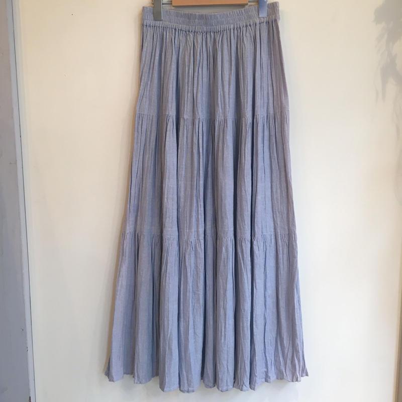 インド綿シャンブレースカート
