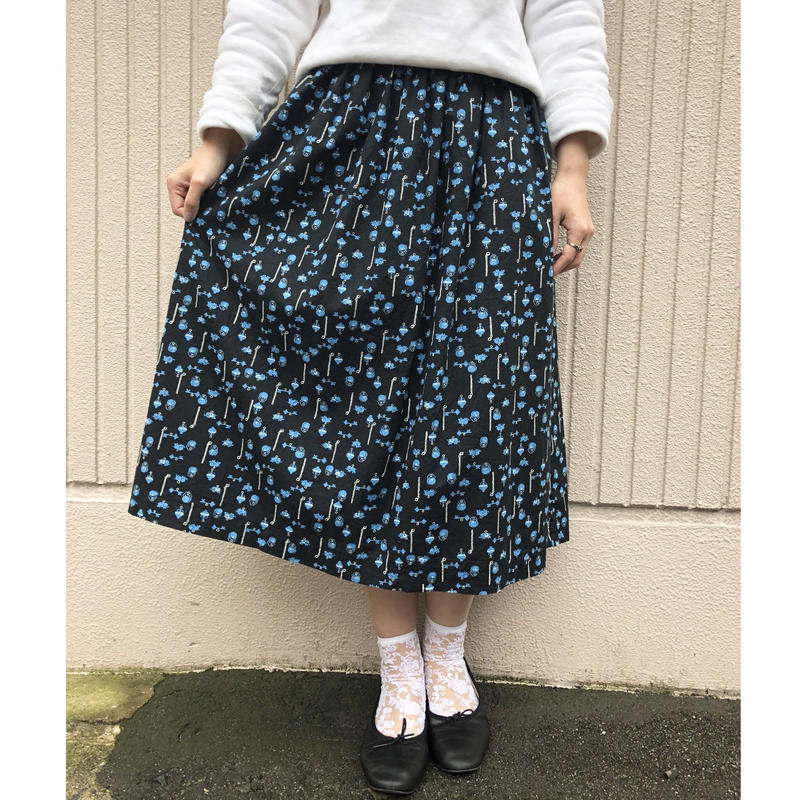 50's ラッキーモチーフ柄スカート