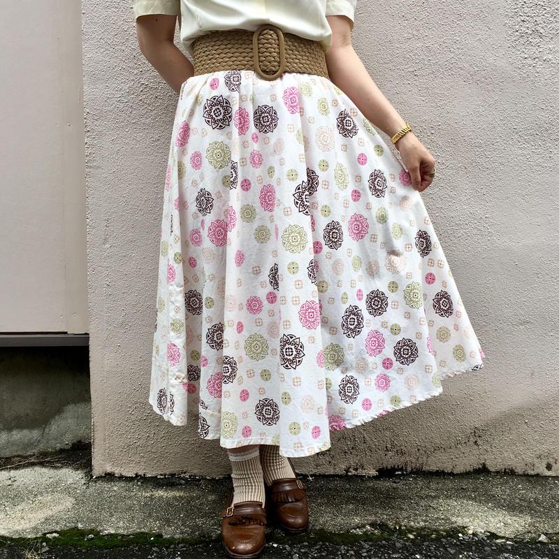 1960's  vintage エンブレム柄スカート