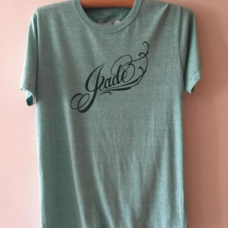 Jade ロゴTシャツ ヘザーグリーン