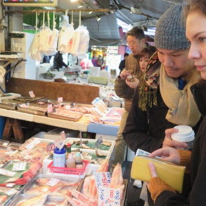 筑地购物、自己动手制作日本料理吧! 或者 在筑地名店「きつねや」品尝当地人气美食