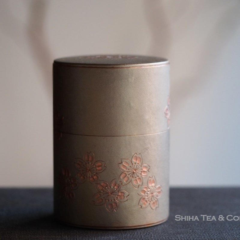 Gyokusendo Hand Made Copper Tea Canister with Sakura