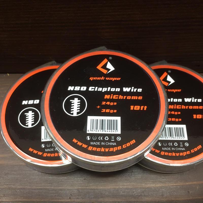 GeekVape N80 Fused Clapton Wire 10ft (24GA + 36GA)