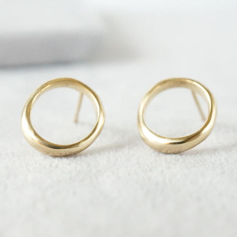 K18 Moon halo earrings / Small