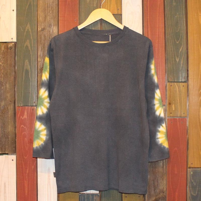 "JAVARA ""FLOWER LINE"" 3/4SLEEVE (DARK GRAY)"