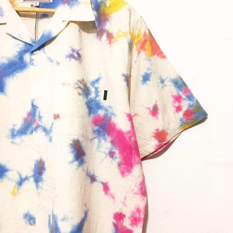 "A HOPE HEMP ""TIE DYE OPEN S/S SHIRTS""(XLサイズ各種)"