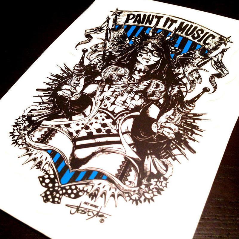 ステッカー【PAINT IT MUSIC】