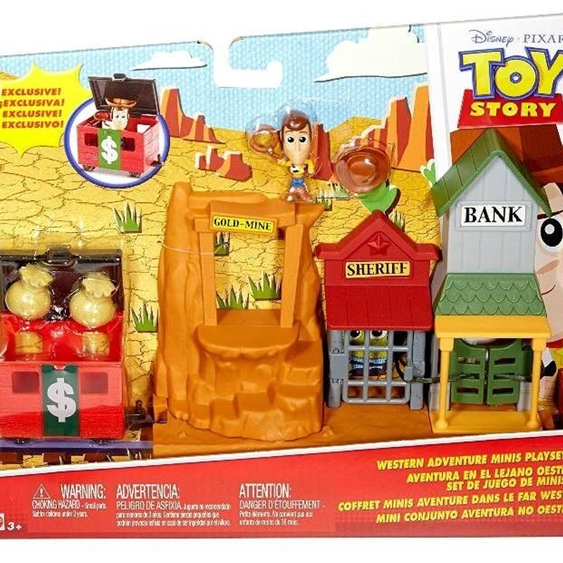 トイストーリー マテル社 ウエスタン・アドベンチャープレイセット Western Adventure Mini Figure Play