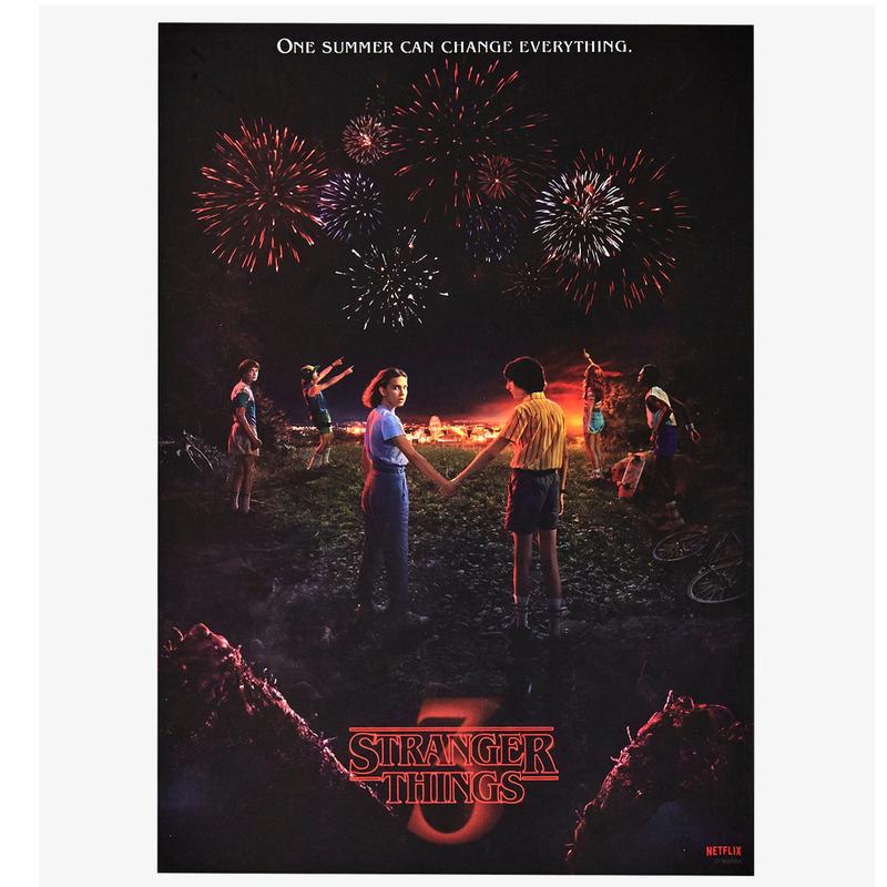 Netflix『ストレンジャーシングス3』木製ウォールアート