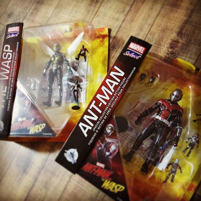 マーベルセレクト 7インチフィギュア シリーズ 「アントマン&ワスプ」2体セット  Marvel Select - 7'' Antman & Wasp Action Figure