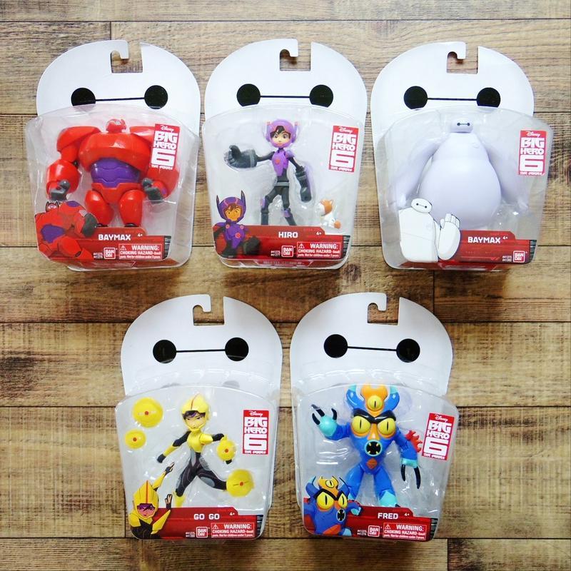 ベイマックス USバンダイ 5インチ アクションフィギュア シリーズ  Bandai Big Hero 6 Action Figure