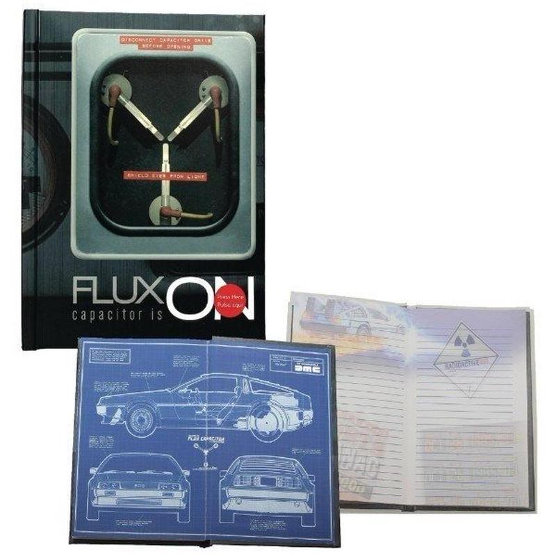 『バック・トゥ・ザ・フューチャー』「次元転移装置」ライトアップ・ノート Back to the Future Flux Capacitor Light-up Notebook