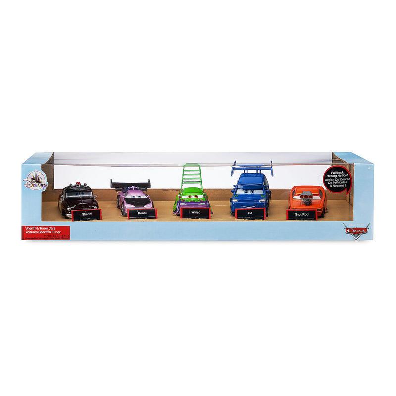 ディズニー・ピクサー カーズ   CARS 1/43  Pull 'N' Race Die Cast Car   Sheriff & Tuners 5pc