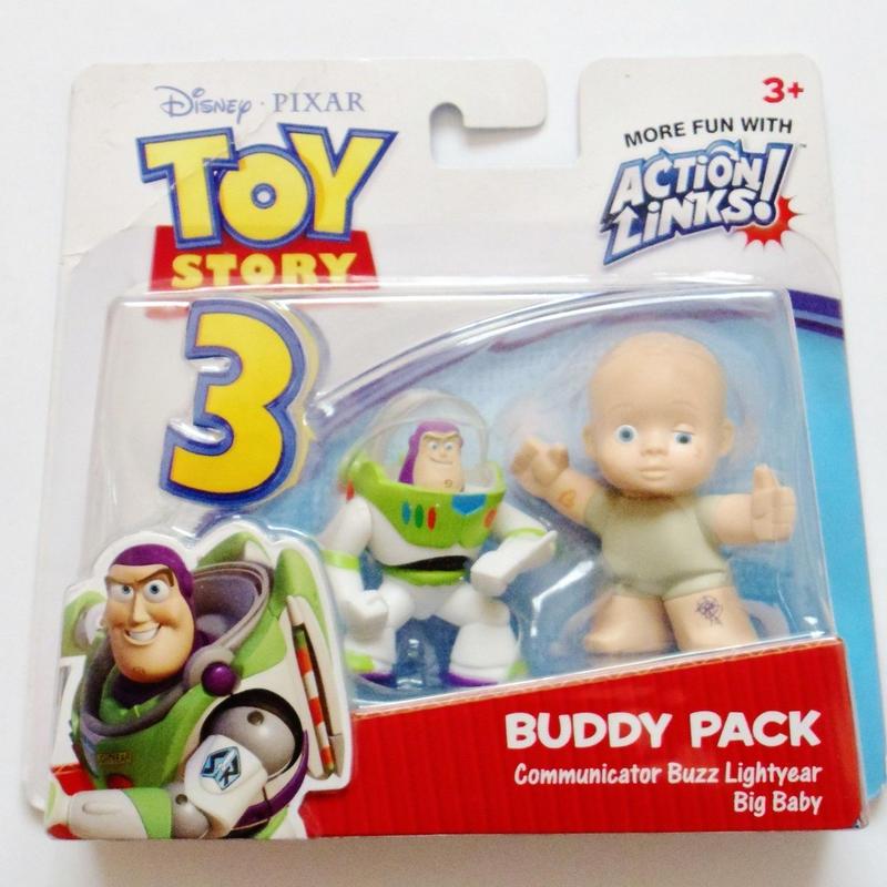 2010年 トイストーリー3  バディパック シリーズ バズライトイヤー/ビッグベビー TOY STORY Mattel Budy Pack  Buzz Lightyear/Big Baby