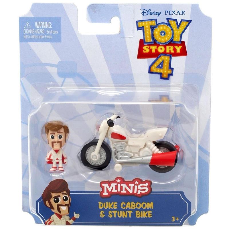 トイストーリー4  マテル社 ミニ・デューク・カブーン&スタント・バイク Toy Story 4 Minis Duke Caboom & Stunt bike Mini Figure Set