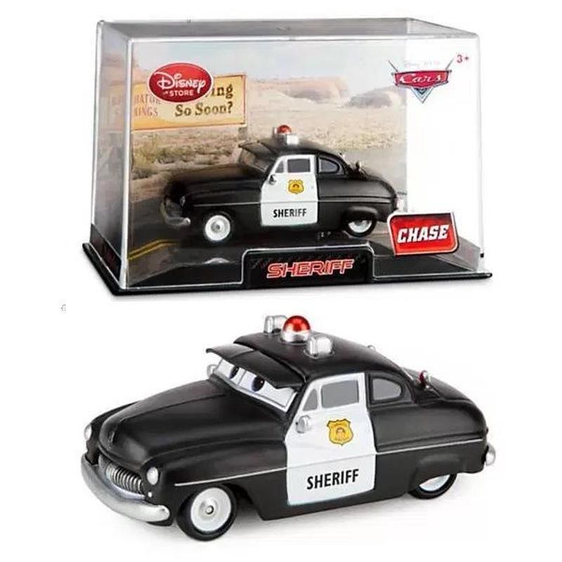 ディズニー・ピクサー カーズ Disney Store 1/43 ダイキャストカー  艶消しブラック シェリフ【CHASE】 Sheriff
