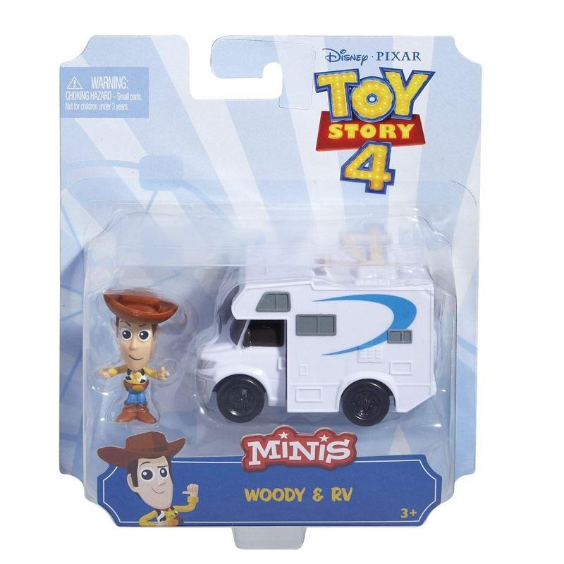 トイストーリー4  マテル社 ウッディ & キャンピングカー Toy Story 4 Minis  Woody & RV Mini Figure Set
