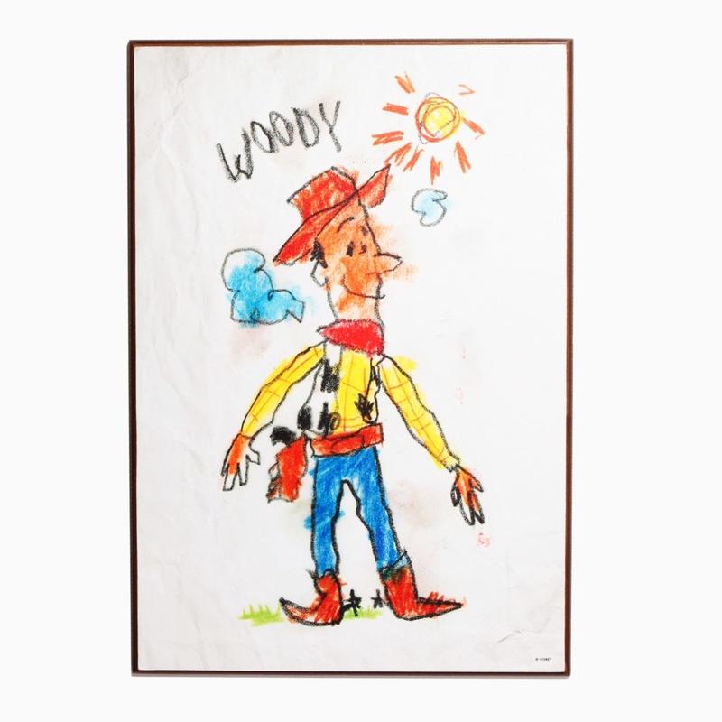 トイストーリー  ウッディ 木製ウォールアート  Woody Drawing