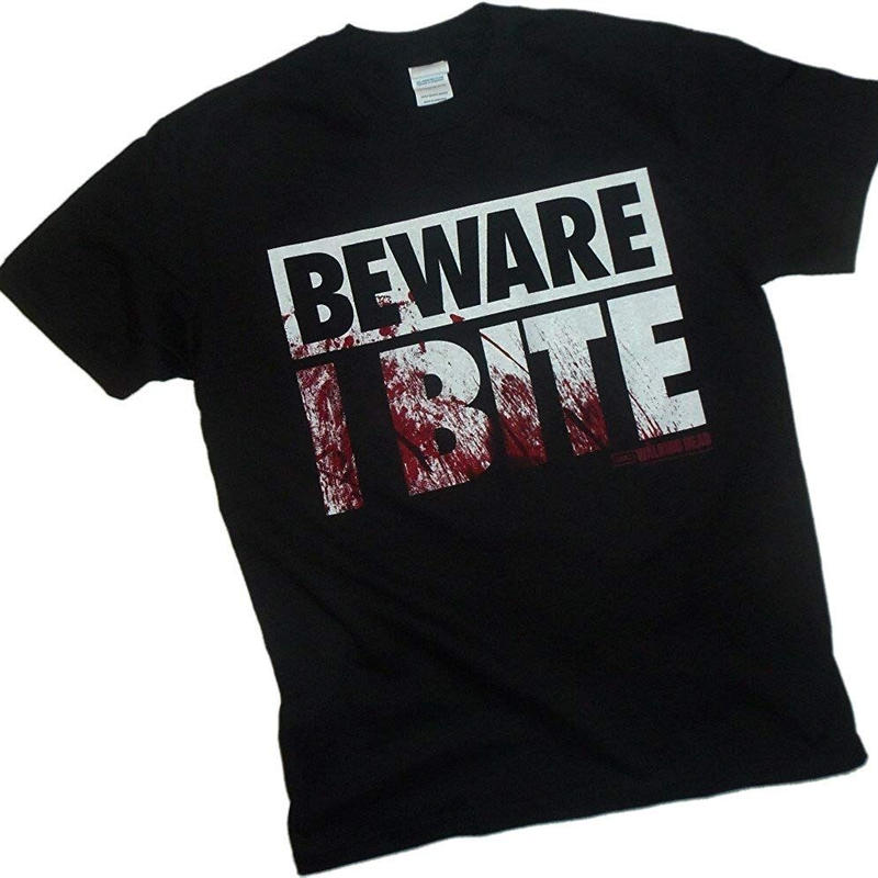 """『ウォーキング・デッド』フリップアップ コスチューム Tシャツ """"Beware I Bite"""" Flip-Up Reversible Mask"""