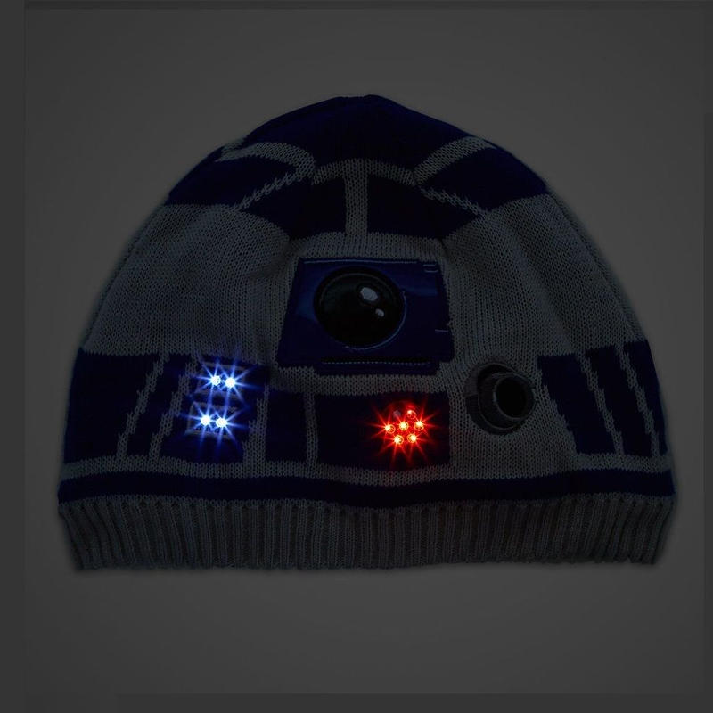 スターウォーズ R2-D2 キッズ用 ライトアップ ニットキャップ