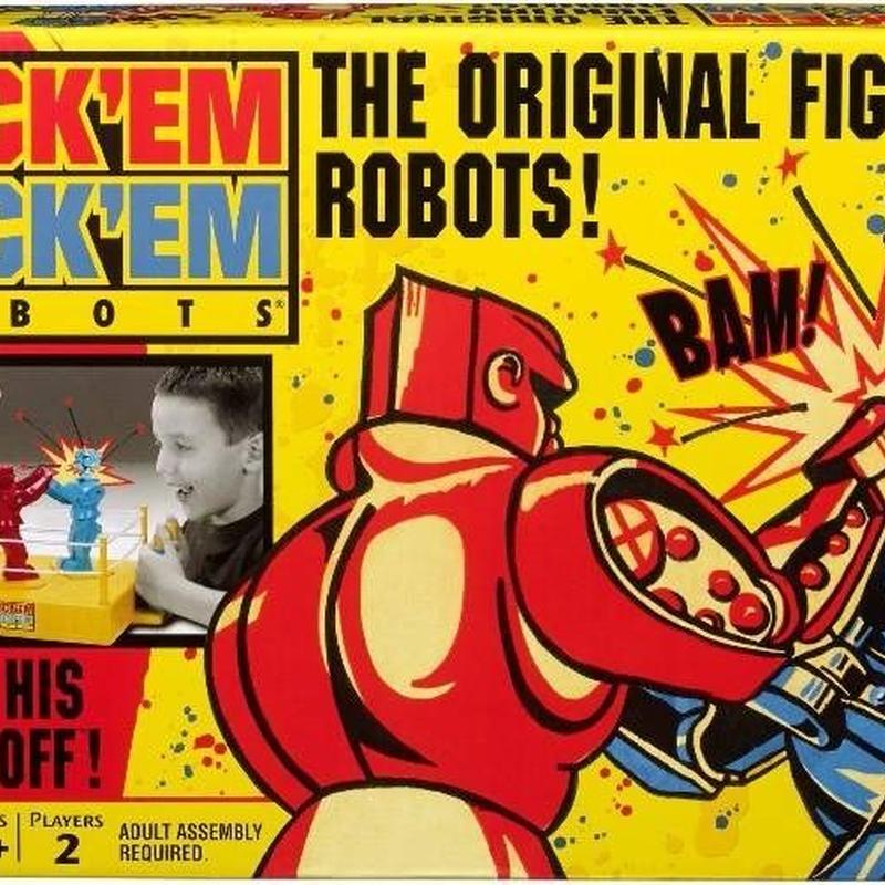 「トイストーリー2」にも登場したマテル社のボクシングゲーム「Rock 'em Sock 'em Robots」