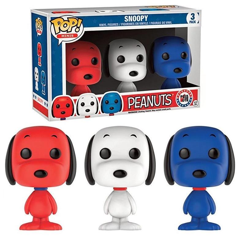 ファンコ ミニ・ポップ ピーナッツ スヌーピー 3体セット FUNKO Mini POP! Rock The Vote Snoopy