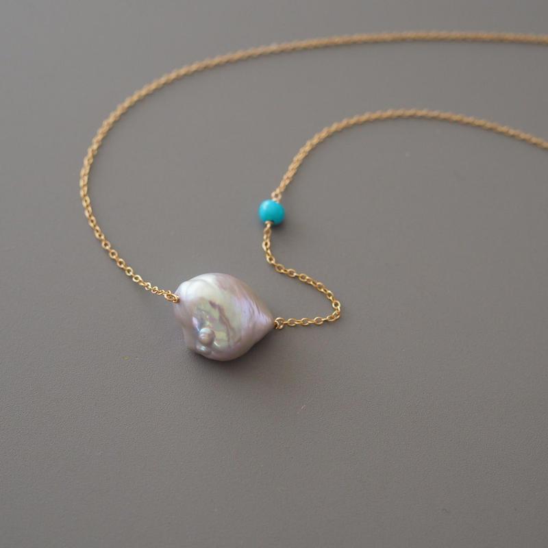 blue drop (necklace)