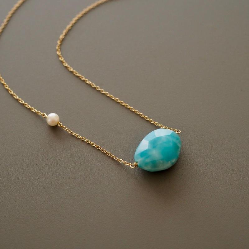 swinging larimar (necklace)